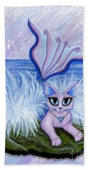 Elemental Water Mermaid Cat Beach Towel