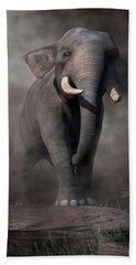 Beach Towel featuring the digital art Elephant by Daniel Eskridge