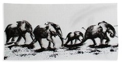 Elephant Fun Beach Towel