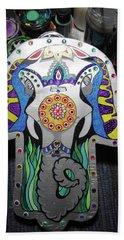 Elephant Hamsa Beach Sheet