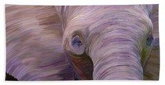 Beach Towel featuring the digital art Elephant by Matt Lindley
