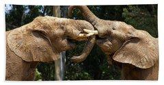 Elephant Play Beach Sheet