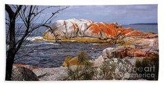 Elephant Rock - Bay Of Fires Beach Sheet by Lexa Harpell
