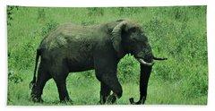 Elephant Walks Beach Towel