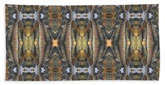 Elephant With Branch Pattern 1 Beach Towel