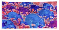 Elephants Beach Towel by Jane Tattersfield