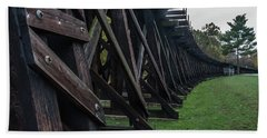 Harpers Ferry Elevated Railroad Beach Towel