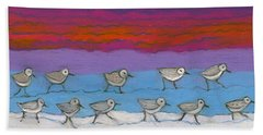 Beach Towel featuring the painting Eleven Pipers Piping by Denise Weaver Ross