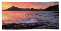 Beach Towel featuring the photograph Elgol Sunset - Isle Of Skye 2 by Grant Glendinning