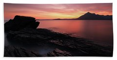 Beach Towel featuring the photograph Elgol Sunset - Isle Of Skye by Grant Glendinning