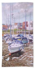 Eling Yacht Southampton Containers Beach Towel