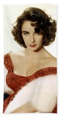 Elizabeth Taylor Beach Sheet by American School