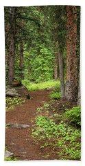 Elk Camp Trail Beach Towel by Adam Pender
