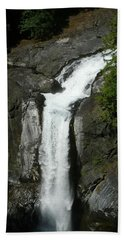 Beach Towel featuring the painting Elk Falls  by 'REA' Gallery