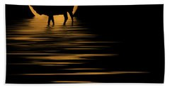 Beach Towel featuring the photograph Elk In The Moonlight by Shane Bechler