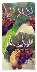 Elk Studies Beach Towel