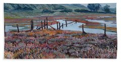 Elkhorn Slough Morning Beach Towel