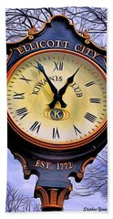 Ellicott City Clock Beach Sheet