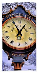Ellicott City Clock Beach Towel