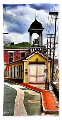 Ellicott City Fire Museum Beach Towel
