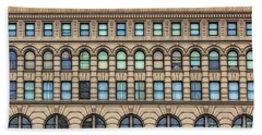 Ellicott Square Building Buffalo Ny Ink Sketch Effect Beach Towel