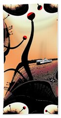 Elliott Bay Ferry Fractal Beach Towel by Tim Allen