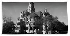 Ellis County Courthouse, Waxahachie, Texas Beach Towel