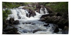 Ellis Falls Of Maine Beach Towel by Catherine Gagne