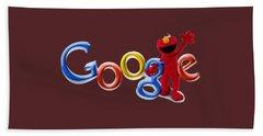 Elmo Google T-shirt Beach Sheet by Herb Strobino