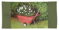 Eloise's Garden Cart Beach Towel