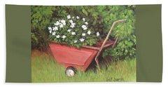 Eloise's Garden Cart Beach Sheet by Jeanette Jarmon