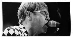 Elton John-0143 Beach Towel by Gary Gingrich Galleries