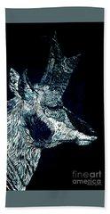 Elusive Visions Antelope Buck Beach Towel