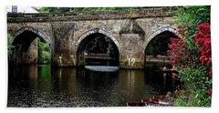 Elvet Bridge Durham City Uk Beach Towel