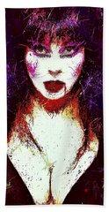 Elvira Mistress Of The Dark Beach Towel