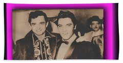 Elvis And Johnny Beach Towel