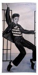 Elvis Presley Jailhouse Rock Beach Towel