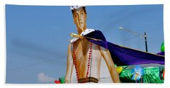 Elvis Presley Goes To Mardi Gras Beach Towel