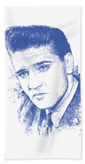 Music Rock Elvis Presley Beach Towels