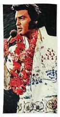 Elvis Presley Beach Sheet by Taylan Apukovska