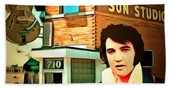 Elvis Presley The King At Sun Studio Memphis Tennessee 20160216 Square Beach Towel