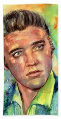 Elvis Presley Watercolor Beach Towel