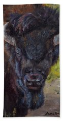 Elvis The Bison Beach Sheet by Lori Brackett