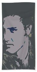 Elvis The King Beach Towel by Robert Margetts