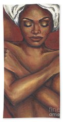 Beach Sheet featuring the painting Embrace Yourself by Alga Washington