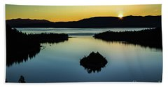 Beach Towel featuring the photograph Emerald Bay Summer Solstice by Mitch Shindelbower