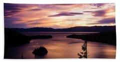 Emerald Bay Sunrise - Lake Tahoe, California Beach Towel