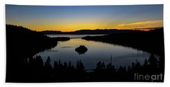 Beach Sheet featuring the photograph Emerald Bay Sunrise by Mitch Shindelbower