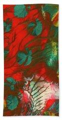 Emerald Butterfly Island Beach Towel