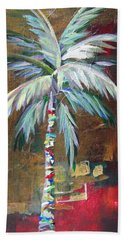 Emerald Fire Palm  Beach Sheet by Kristen Abrahamson